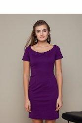 Klasyczna sukienka o prostym kroju GR1417 Liliowy