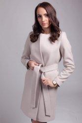 Płaszcz damski PLA025 light beige