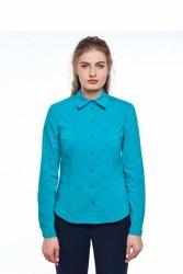 Bazowa bluzka w modnych kolorach GR1296_1 Turkus