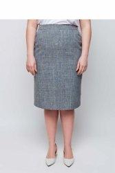 Kobieca elegancka spódnica ołówkowa TR1845 Kwarc