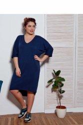 Sukienka dzienna plus size oversize BLUE TR1699