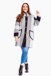 Sweter damski L-XXXL LONIA rozpinany Szary