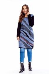 wełniany sweter z kieszeniami