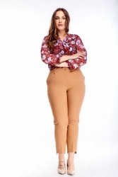 Eleganckie spodnie KARINA 40-48 w kant