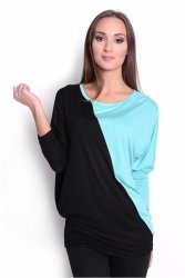 Tunika damska PLUS SIZE S-3XL nietoperz DUO KOLOR