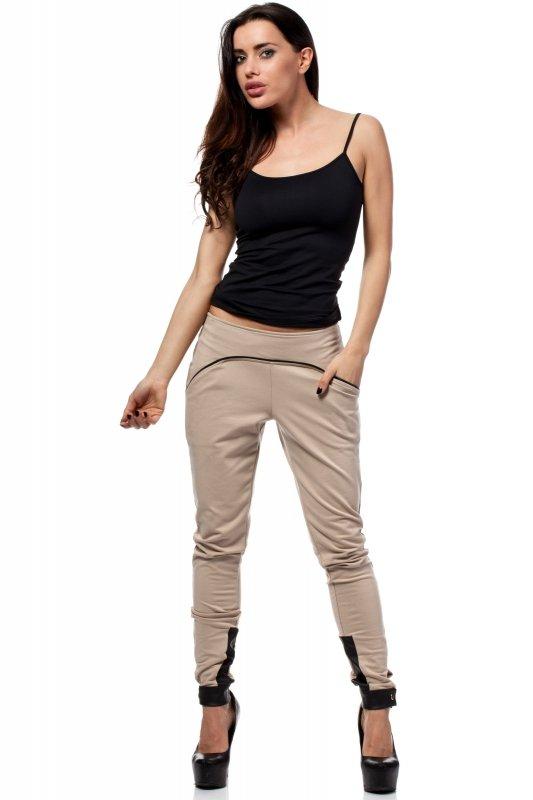 Spodnie-Damskie-Model-MOE157-Beige-przod