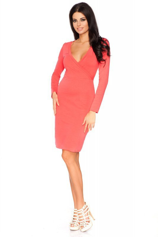 Sukienka Model Olga 3 Coral