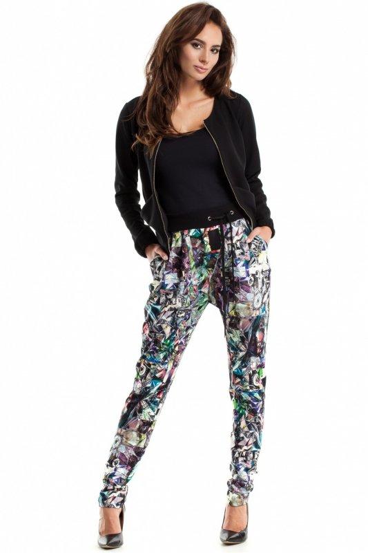 Spodnie-Damskie-Model-MOE266-Geometria-Multicolor-2