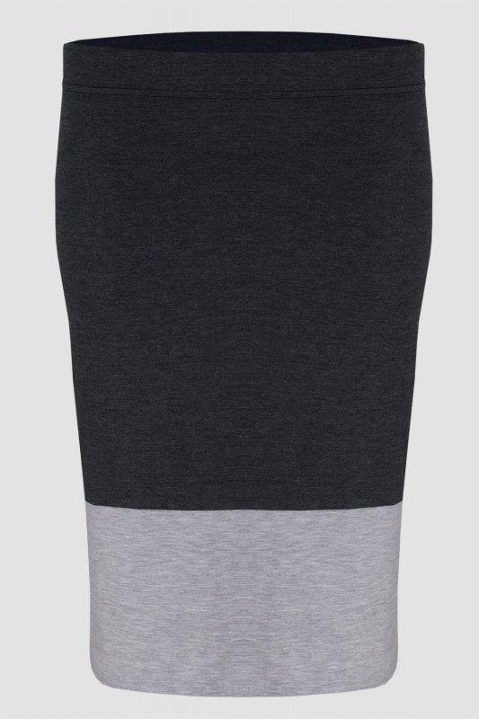 Spódnica dzianinowa DUO S-020 Graphit/Light Gray Melange