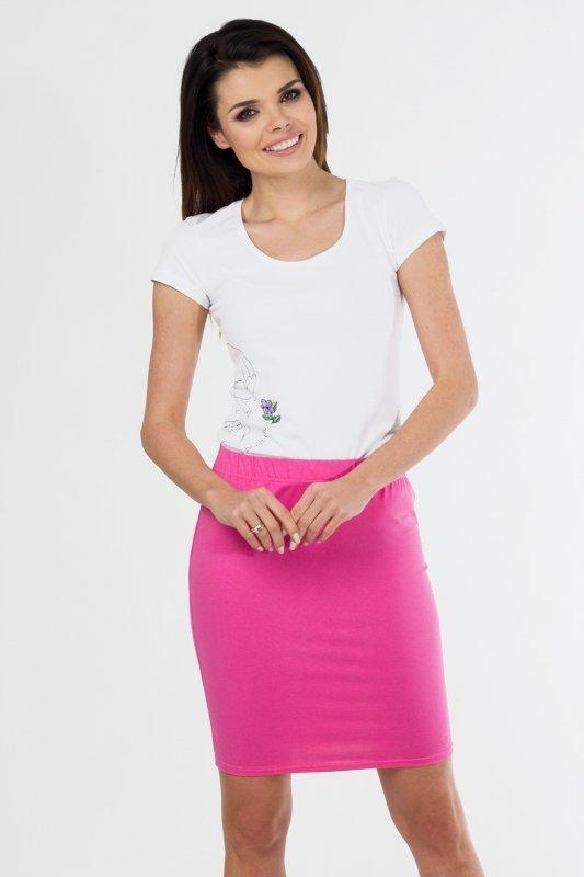 Spódnica dzianinowa S-010 Pink