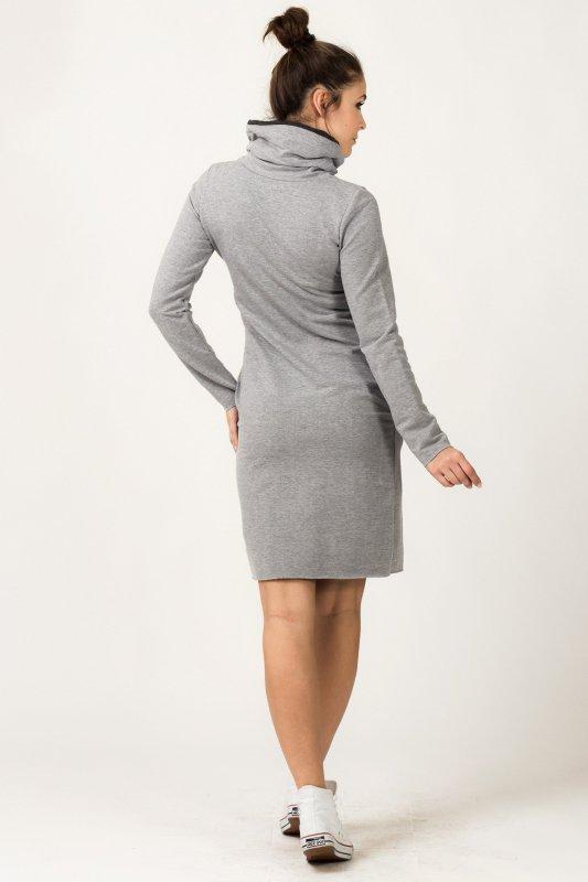 Sukienka model Kaja Light Gray/Dark Gray