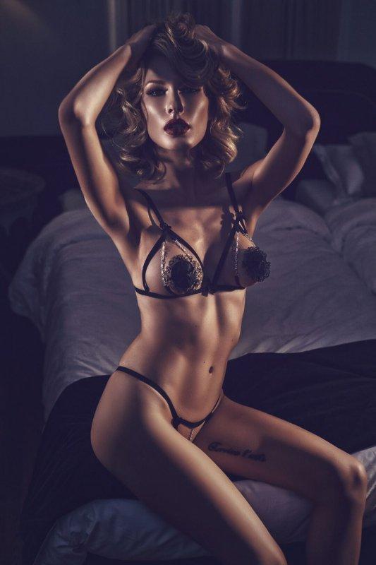 Bielizna damska erotyczna M-XXXL plus size Komplet POLYOS Black