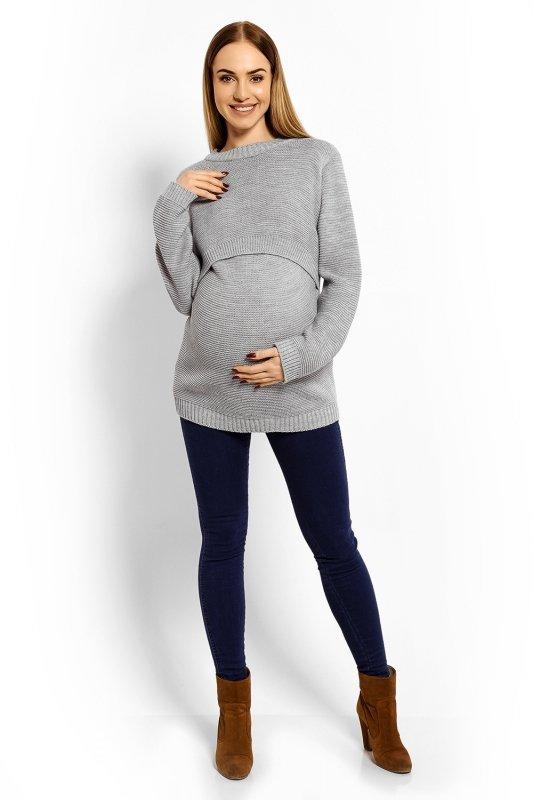 Sweter Ciążowy Model 40001C Grey