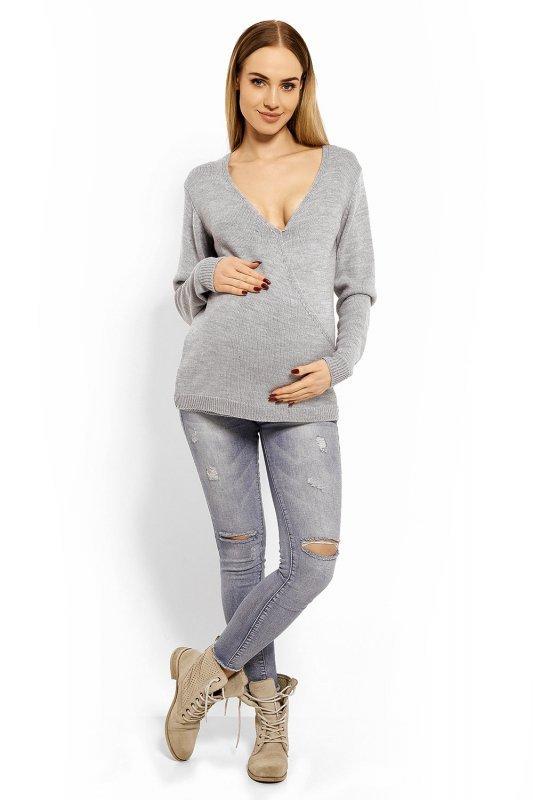 Sweter Ciążowy Model 40002C Grey