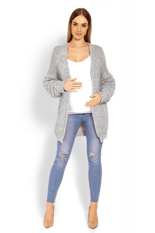 7842b6c6de Sweter Ciążowy Model 60003C Grey - Swetry rozpinane