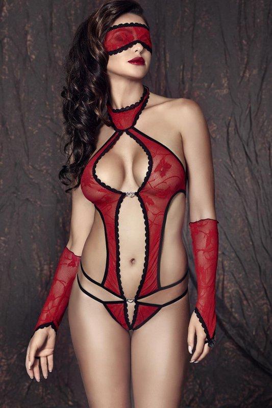 Komplet damski erotyczny L-XXXL ASHLEY Red