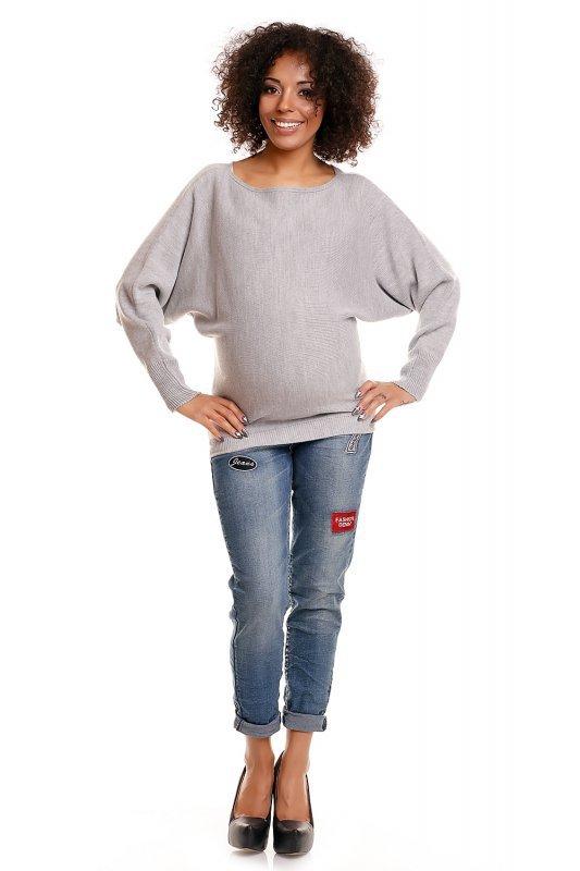 Sweter ciążowy 70003C jasny szary