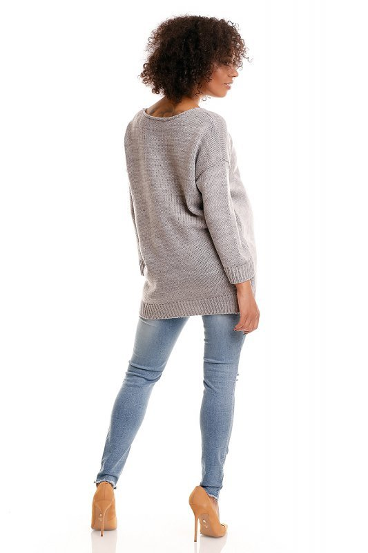 Sweter model 30045C Light Gray