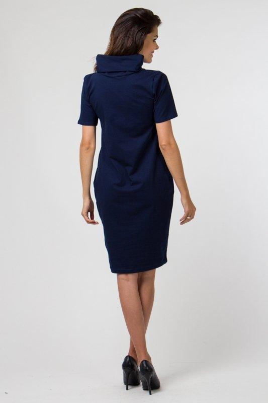 Sukienka dzianinowa K-041 Navy