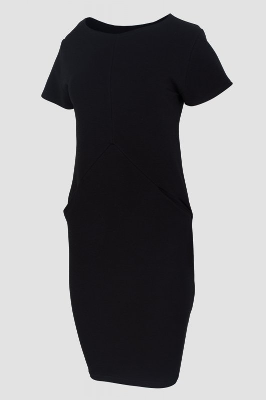 Sukienka-dzienna-xl-xxl-PLUS-SIZE-40-52-dresowa-czarna-D-041-DUZE-ROZMIARY-do-biura-bok