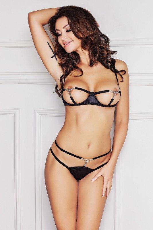 Bielizna damska plus size erotyczna MANGO Black