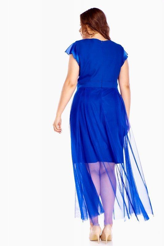 Sukienka LAURA z kopertowym dekoltem