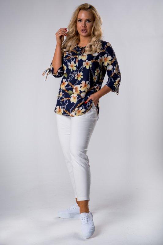 Bluzka damska 46-58 magnolie łańcuchy