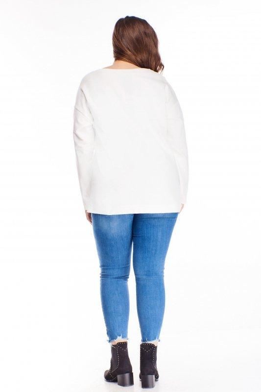 bawełniana bluzka z naszywką na biuście