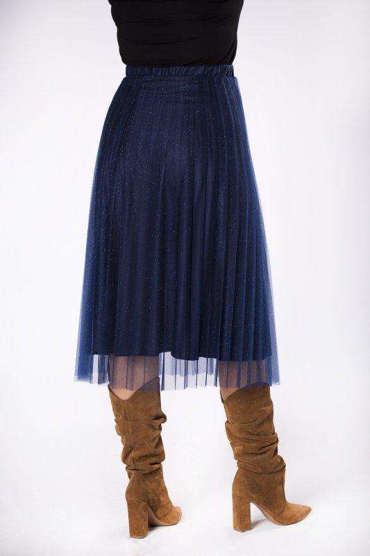 tiulowa spódnica plisowana