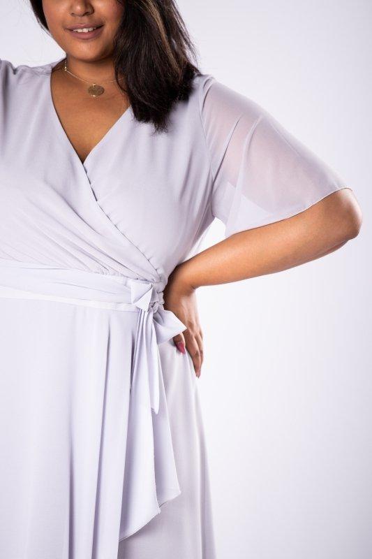 Sukienka tiulowa MAVI kopertowy dekolt