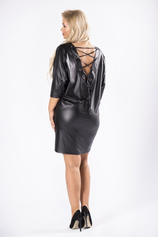 Sukienka KIRA z imitacji skóry
