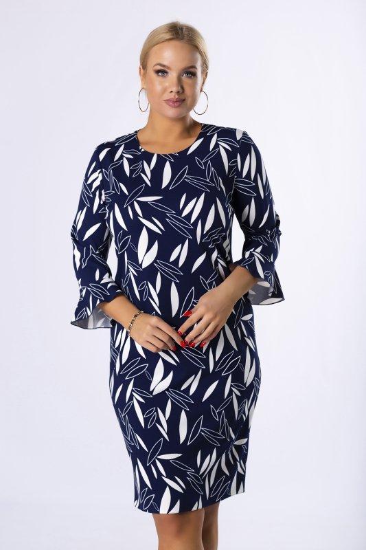Sukienka-plus-size-elegancka-BRENDA-kwiaty-dla-puszystych-czarna-midi