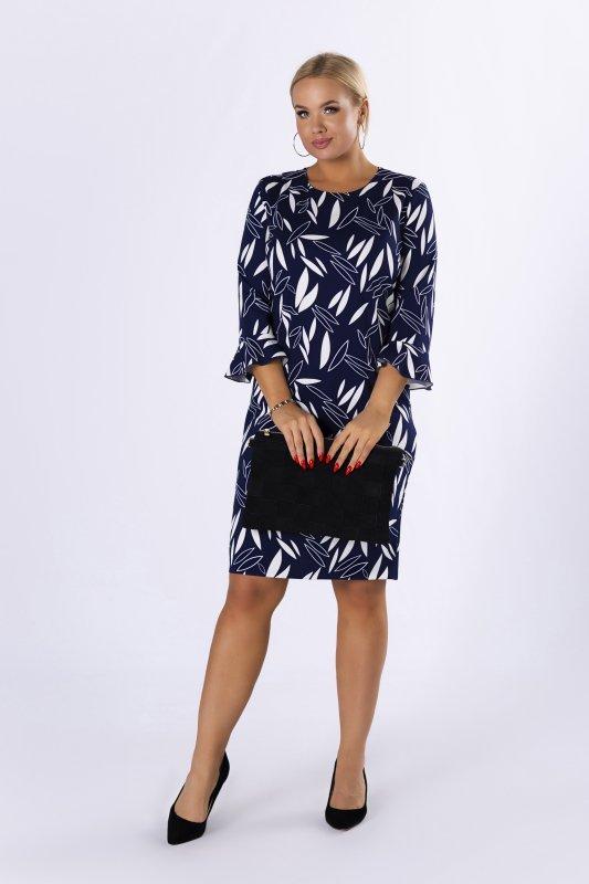 Sukienka-plus-size-elegancka-BRENDA-kwiaty-dla-puszystych-czarna-midi-dzienna