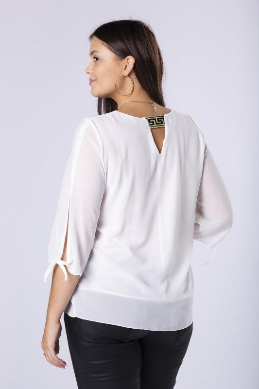 Bluzka tiulowa LARA z rozcięciami