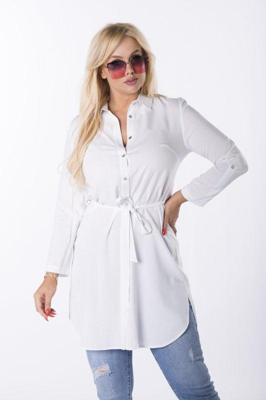 koszulowa tunika z wiązaniem