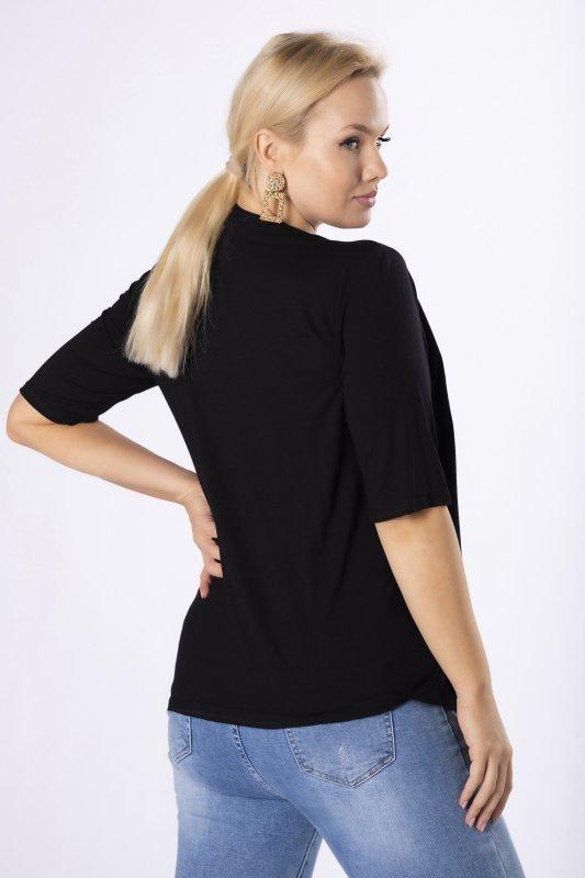 Czarna bluzka NULA z narzutką