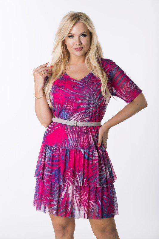 Trapezowa-sukienka-plus-size-WERONA-zwiewna-rozowa