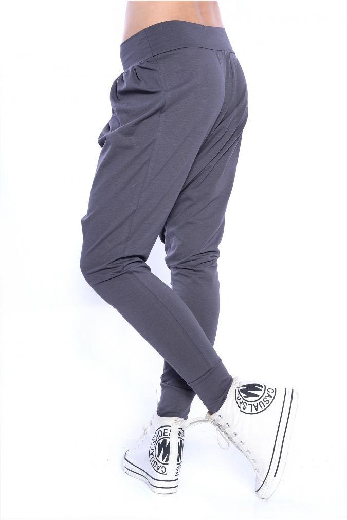 Spodnie-damskie-plus-size-s-m-l-xl-xxl-xxxl-OLA-obnizony-krok-baggy-haremki-grafitowe-tyl