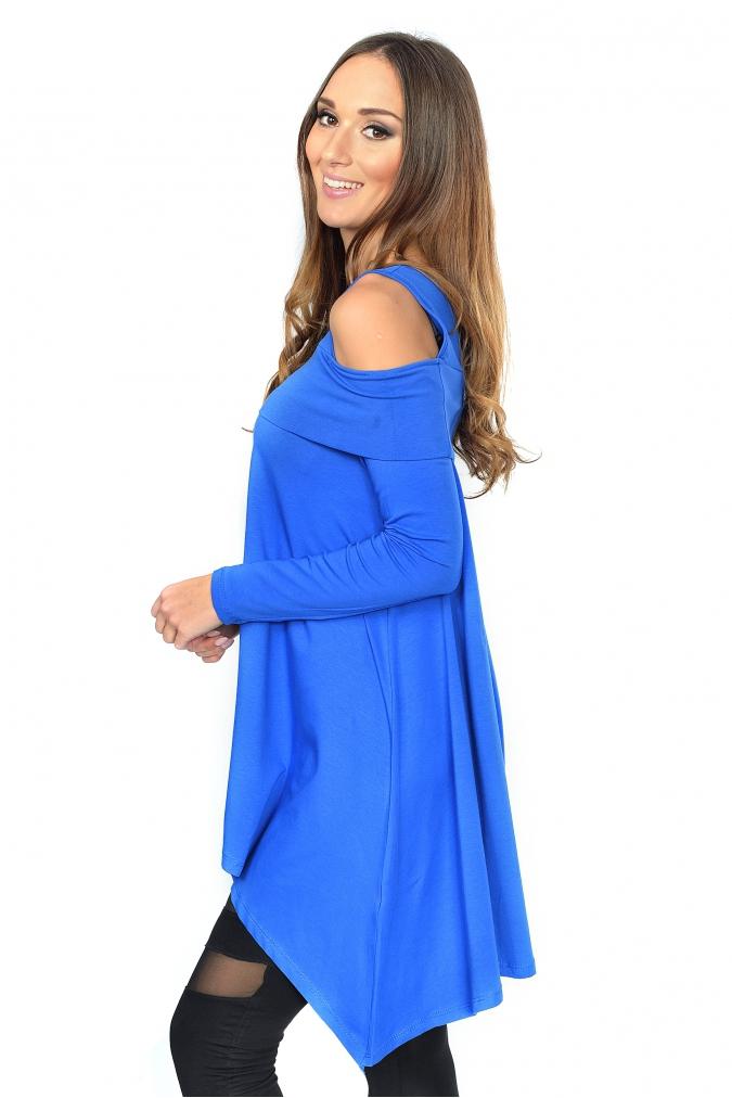 Tunika-damska-plus-size-dla-puszystych-xl-xxl-MIKI-asymetryczna-modna-wyszczuplajaca-niebieska-bok