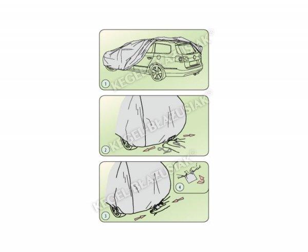 Pokrowiec na samochód MOBILE GARAGE roz. L mini VAN