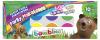 Farby plakatowe BAMBINO 10 kolorów FLUO + BROKAT (01956)