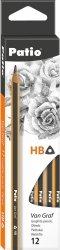 Ołówek techniczny trójkątny z gumką VanGraf HB PATIO (51958PTR)