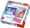 TREFL Puzzle 2w1 + memo My Little Pony Kucyki, Przyjaźń to magia (90601)