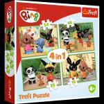 TREFL Puzzle 4 w 1 Wesoły dzień Binga (34335)