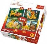 TREFL Puzzle 4 w 1 Król Lew i przyjaciele (34317)