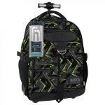 Plecak szkolny młodzieżowy na kółkach Back UP zielone wzory GREEN SCRATCH + słuchawki (PLB1K31)