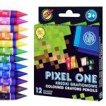 Kredki świecowe grafionowe 12 kolorów PIXEL dla fana gry MINECRAFT ASTRA (316121007)