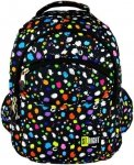 Plecak szkolny młodzieżowy ST.RIGHT czarny w kolorowe plamy, SPLASH BP03 (12459)
