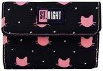 Portfel ST.RIGHT czarny w różowe kotki, MEOW NW-02 (17355)