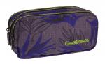 Piórnik trzykomorowy saszetka COOLPACK PRIMUS szary w niebieskie liście, PALM LEAVES 972 (71109)